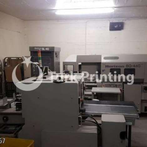 Used Horizon BQ 440 + SL40 + HT70 year of 1999 for sale, price ask the owner, at TurkPrinting in Perfect Binding Machines
