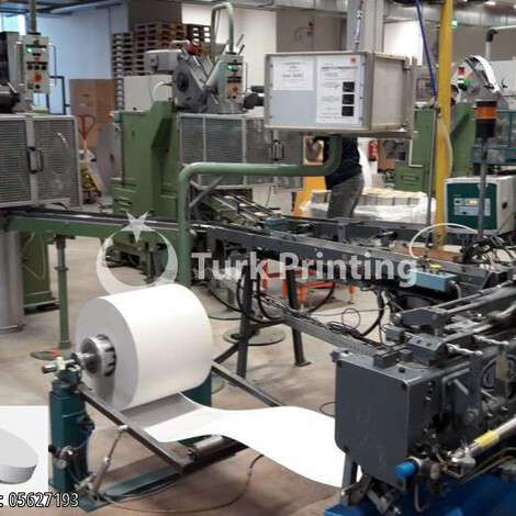 Used CHRISTIAN MAJER round box production line for cheese year of 1995 for sale, price ask the owner, at TurkPrinting in Other Post Press Machines