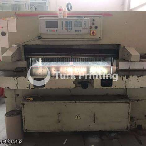 Used Polar 115 cm Paper Guillotine year of 2000 for sale, price ask the owner, at TurkPrinting in Paper Cutters - Guillotines