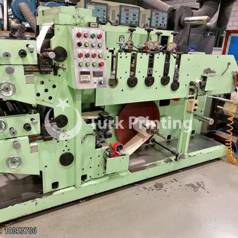 Used Motex MXPM2 color 2 + Errepi Speedy Rotor 270 rewinding year of 1999 for sale, price ask the owner, at TurkPrinting in Flexo and Label Printing Machines