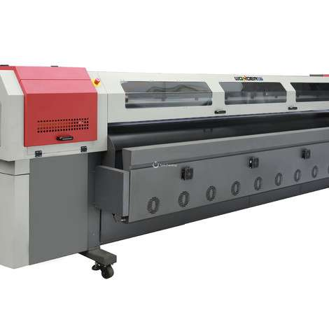 Used Flyjet Wonder solvent printer 240sqm/h Konica 512i printhead printer 3.2m digital vinyl flex banner solvent printer/printing machine. year of 2019 for sale, price ask the owner, at TurkPrinting in Flatbed Printing Machines
