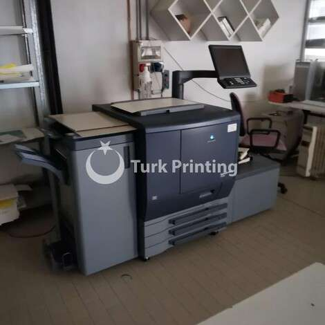 Used Konica Minolta complete digital print shop for sale KONICA MINOLTA - RICOH - SMYTH - paper cutter - horizon bq - newbind year of 2007 for sale, price ask the owner, at TurkPrinting in Printer and Copier