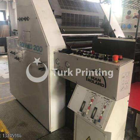 Used Man-Roland 202 Two Colors Offset Printing Press year of 1999 for sale, price 18000 EUR, at TurkPrinting in Used Offset Printing Machines