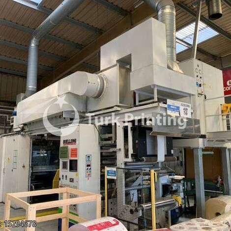 Used Bielloni MAGIFLEX 6 Flexo printing machine year of 2007 for sale, price ask the owner, at TurkPrinting in Flexo and Label Printing Machines