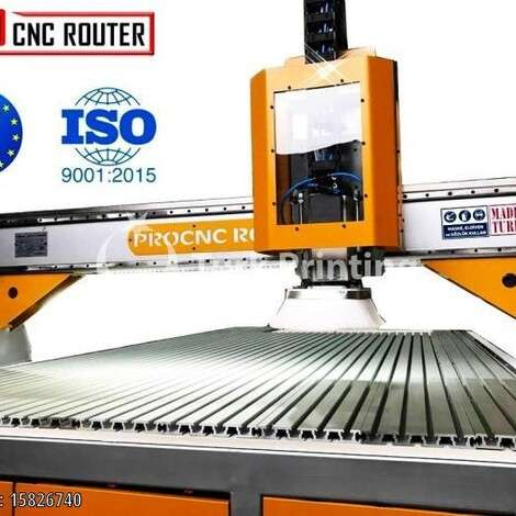 New Pro CNC Router 1500X2500 CNC MACHINE WITH MARBLE EMBROIDERY !! year of 2019 for sale, price 66000 TL FCA (Free Carrier), at TurkPrinting in CNC Router