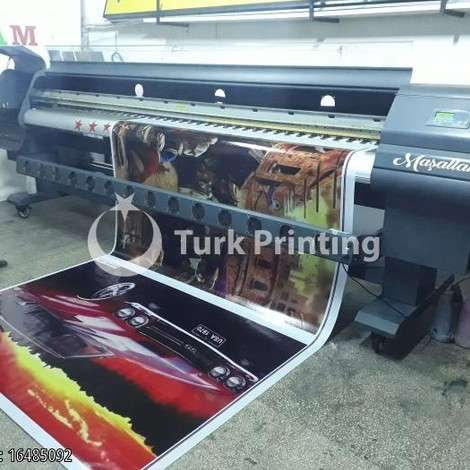 Used Maxima Seiko Nitrojet 3.20 cm 8 Head Digital Printing machine year of 2009 for sale, price ask the owner, at TurkPrinting in Flatbed Printing Machines