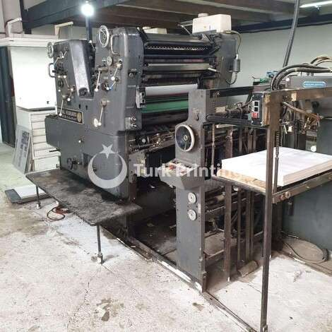 Used Heidelberg SORMZ 2 Color Offset Printing Press year of 1977 for sale, price 12000 EUR FOB (Free On Board), at TurkPrinting in Used Offset Printing Machines