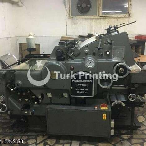 Used Heidelberg KORD 46x64 Offset Printing Press year of 1985 for sale, price ask the owner, at TurkPrinting in Used Offset Printing Machines