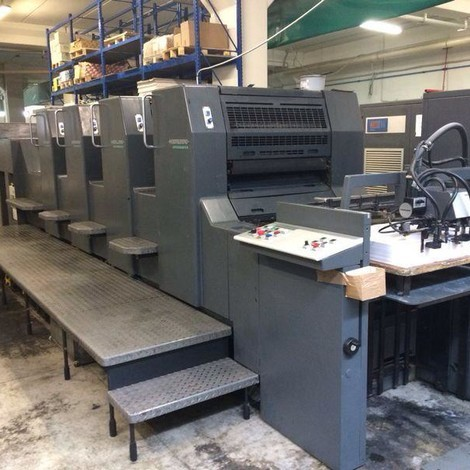 Used 1998 HEIDELBERG SM 74-4 P3H four color offset printing machines for sale. Autoplate : semiautomatic plate change Speed 15.000 c/h