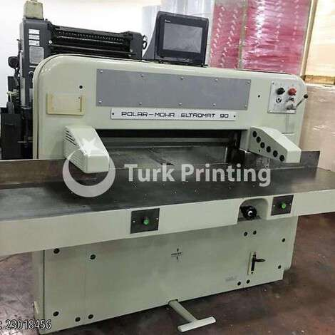 Used Polar 90 CE PAPER CUTTER year of 1992 for sale, price 8500 EUR, at TurkPrinting in Paper Cutters - Guillotines