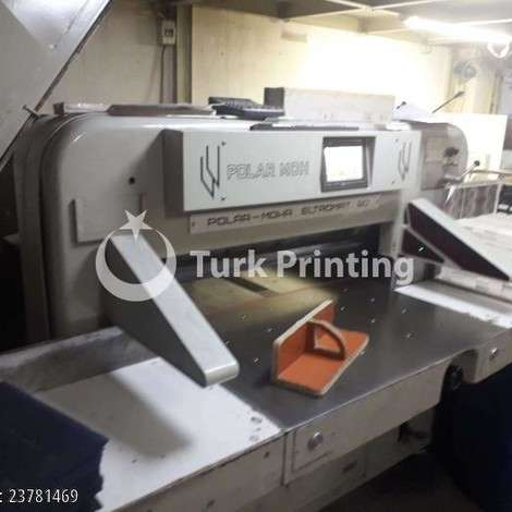 Used Polar 90 ELECTROMAT year of 1991 for sale, price 11000 USD EXW (Ex-Works), at TurkPrinting in Paper Cutters - Guillotines