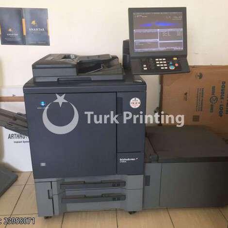 Used Konica Minolta C1060L digital printing machine year of 2015 for sale, price 9500 USD EXW (Ex-Works), at TurkPrinting in Digital Offset Machines