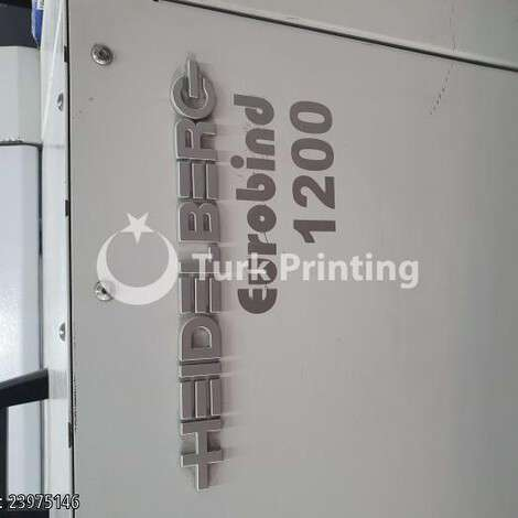 Used Heidelberg Eurobind 1200 perfect binder machine year of 2007 for sale, price 36000 EUR, at TurkPrinting in Perfect Binding Machines