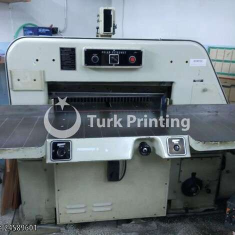 Used Polar 82 CM PAPER GUILLOTINE year of 1990 for sale, price 5000 EUR, at TurkPrinting in Paper Cutters - Guillotines