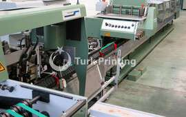 BRAVO S saddle stitching line, 6 feeders, cover feeders, trimmer and stacker