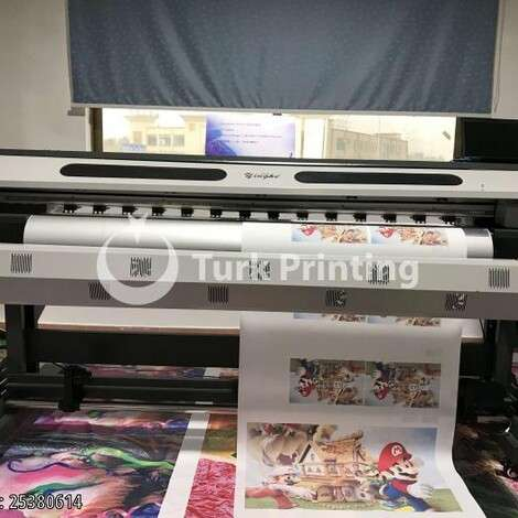 New Yinghe YH-1800G/S/W Large Format Printer with XP600/DX5 Printhead year of 2005 for sale, price ask the owner, at TurkPrinting in Large Format Digital Printers and Cutters (Plotter)