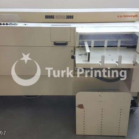 Used C.P Bourg BB 3000 Binding Machine year of 2000 for sale, price 3500 EUR FOT (Free On Truck), at TurkPrinting in Perfect Binding Machines