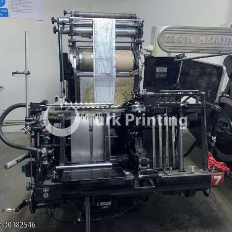 Used Heidelberg Tiegel Hot Foiling Machine year of 1990 for sale, price 70000 TL, at TurkPrinting in Die Cutters
