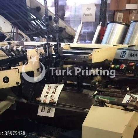 Used Harris 562 6-Pocket Saddle Stitcher W/ Cover Feeder year of 1990 for sale, price 9500 USD EXW (Ex-Works), at TurkPrinting in Saddle Stitching Machines
