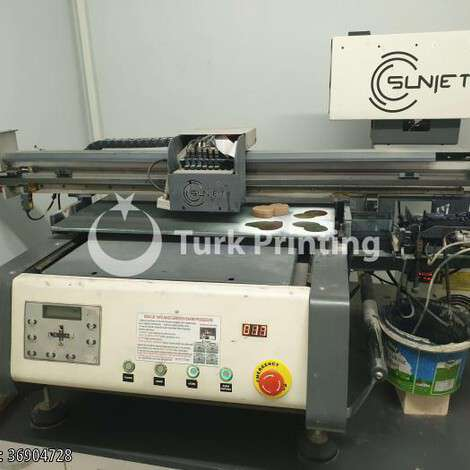 Used Sunjet 40x60cm UV flatbed digital printing machine year of 2018 for sale, price 38000 TL EXW (Ex-Works), at TurkPrinting in UV Printer (Flatbed Machines)
