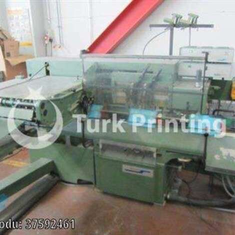 Used Muller Martini 235 saddlestitching line / stitching line,  trimmer  year of 1984 for sale, price ask the owner, at TurkPrinting in Saddle Stitching Machines