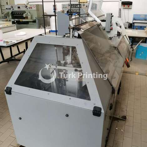 Used Smyth SM 14 book sewing machine for digital and normal signature year of 2010 for sale, price ask the owner, at TurkPrinting in Book Sewing Machines