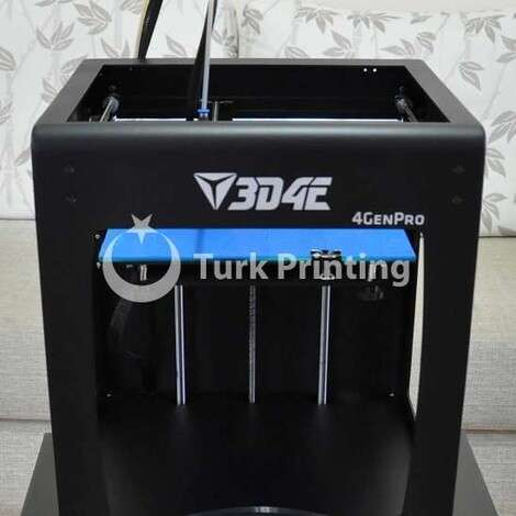 Used 3D4E 4GENPRO 3D Printer year of 2017 for sale, price 7550 TL, at TurkPrinting in 3D Printer