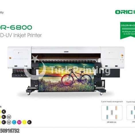 Used Oric OR-6800 1.8m UV Roll To Roll Printer With Five/Six Industrial Print Heads year of 2012 for sale, price ask the owner, at TurkPrinting in Large Format Digital Printers and Cutters (Plotter)