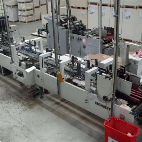 Used Bobst Media 68 Folding Gluing Machine year of 1978 for sale, price ask the owner, at TurkPrinting in Other Packaging and Converting Machines
