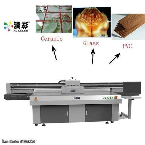 New AC Color uv flatbed printer uv digital printing machine year of 2020 for sale, price ask the owner, at TurkPrinting in Flatbed Printing Machines