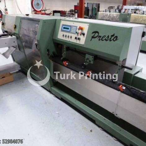 Used Muller Martini PRESTO saddlestitching line / stitching line year of 1995 for sale, price ask the owner, at TurkPrinting in Saddle Stitching Machines