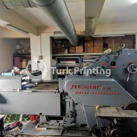 Used Albert Frankenthal Hot Foiling Machine, 70x101cm year of 1970 for sale, price 28500 EUR, at TurkPrinting in Foiling Machines