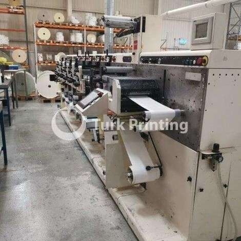 Used Nilpeter FA2 500 Series 5 Color Labelprinting machine year of 2005 for sale, price ask the owner, at TurkPrinting in Flexo and Label Printing Machines