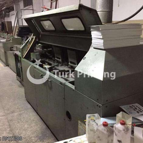 Used Muller Martini Panda Binder 16 Station Perfect Binder year of 1986 for sale, price 16000 EUR FOB (Free On Board), at TurkPrinting in Perfect Binding Machines