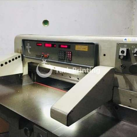 Used Polar 92 EM paper guillotine year of 1989 for sale, price 13000 EUR EXW (Ex-Works), at TurkPrinting in Paper Cutters - Guillotines