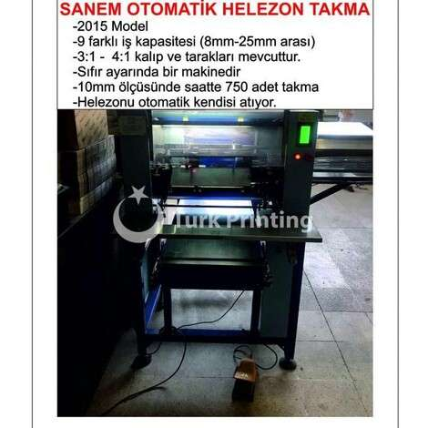 Used Sanem AUTOMATIC WIRE BINDING MACHINE  year of 2015 for sale, price 12500 EUR EXW (Ex-Works), at TurkPrinting in Wire and Spiral Binding Machines