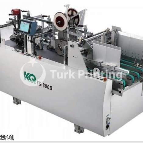 Used KQ Keqi TS-110B Taping machine double side tape applicator, scotch tape adhesive New # year of 2019 for sale, price ask the owner, at TurkPrinting in Folding - Gluing