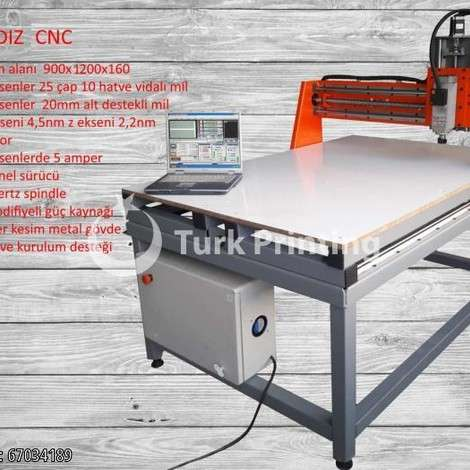 Used Ayyıldız Mekatronik 900x1200x14 SemiPro Cnc Router year of 2019 for sale, price ask the owner, at TurkPrinting in CNC Router Machines