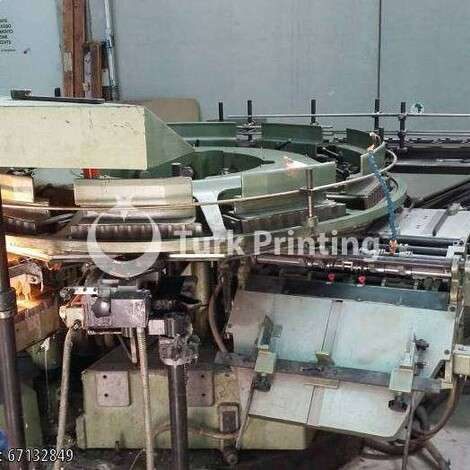 Used Muller Martini RB 5 perfect bindingline with 10 clamps year of 1986 for sale, price ask the owner, at TurkPrinting in Perfect Binding Machines