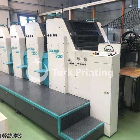 Used Man-Roland 204 Offset Printing Machine year of 2001 for sale, price ask the owner, at TurkPrinting in SheetFed Offset Printing Machines