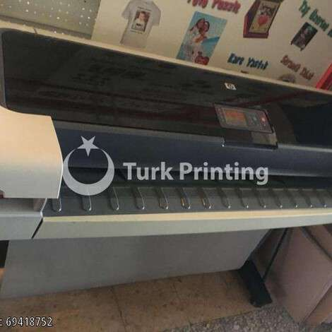 Used HP Hewlett Packard T1100 Wide Format Printer - Plotter year of 2010 for sale, price 11500 TL, at TurkPrinting in Large Format Digital Printers and Cutters (Plotter)