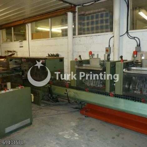 Used Muller Martini model 321 Saddles Stitching Line year of 1995 for sale, price ask the owner, at TurkPrinting in Saddle Stitching Machines
