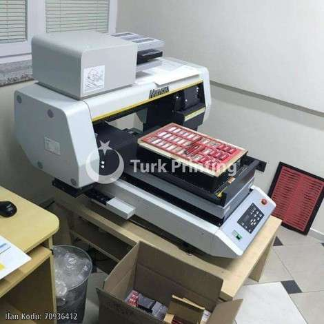 Used Mimaki UJF-3042FX UV printer year of 2016 for sale, price 9500 EUR, at TurkPrinting in Flatbed Printing Machines
