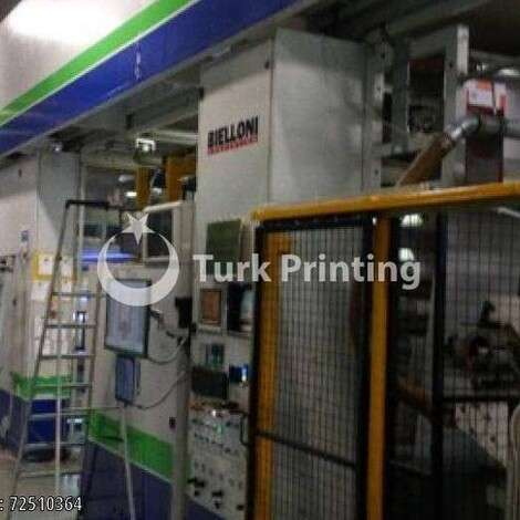 Used Bielloni Magiflex Gearless 8 Flexo printing machine year of 2006 for sale, price ask the owner, at TurkPrinting in Flexo and Label Printing Machines