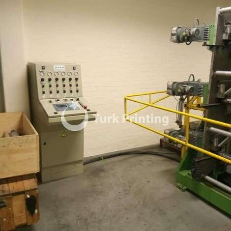 Used OMM Foil Rewinder Machine year of 1998 for sale, price ask the owner, at TurkPrinting in Sliter-Rewinders Machines