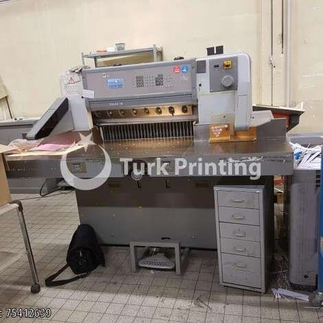 Used Polar 78 ES Paper Guillotine year of 1998 for sale, price 9500 EUR FOB (Free On Board), at TurkPrinting in Paper Cutters - Guillotines