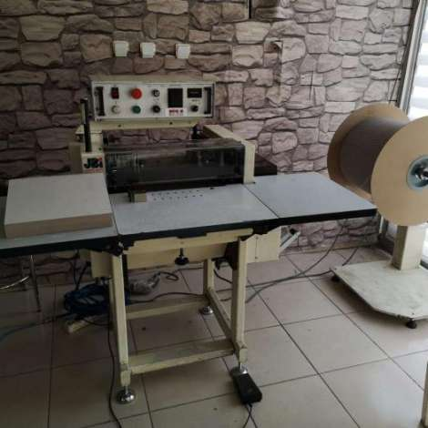 Used James Burn BB 32/37 CD automatic spiral binding machine year of 1993 for sale, price 4700 EUR, at TurkPrinting in Wire and Spiral Binding Machines