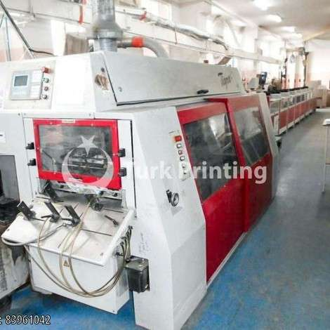 Used Muller Martini TIGRA 1570 + gatherer Perfect Binder year of 2003 for sale, price ask the owner, at TurkPrinting in Perfect Binding Machines
