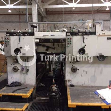 Used Bobst SPO 1575 Flexo Printing Machine, 2 color year of 1990 for sale, price ask the owner, at TurkPrinting
