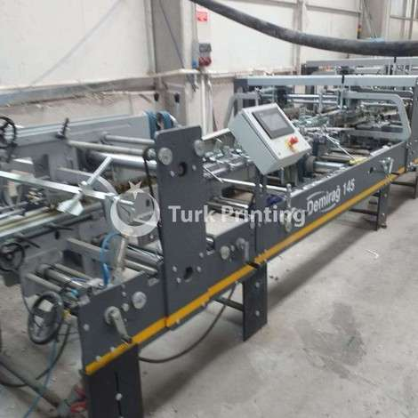 Used Demirağ 3 point carton folding gluing year of 2014 for sale, price ask the owner, at TurkPrinting in Folding - Gluing